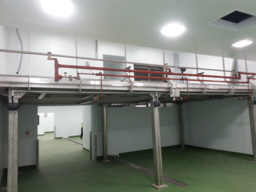 high care production side of gantry