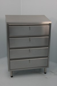 4 Drawer Unit 600x400x800 Fully Lockable