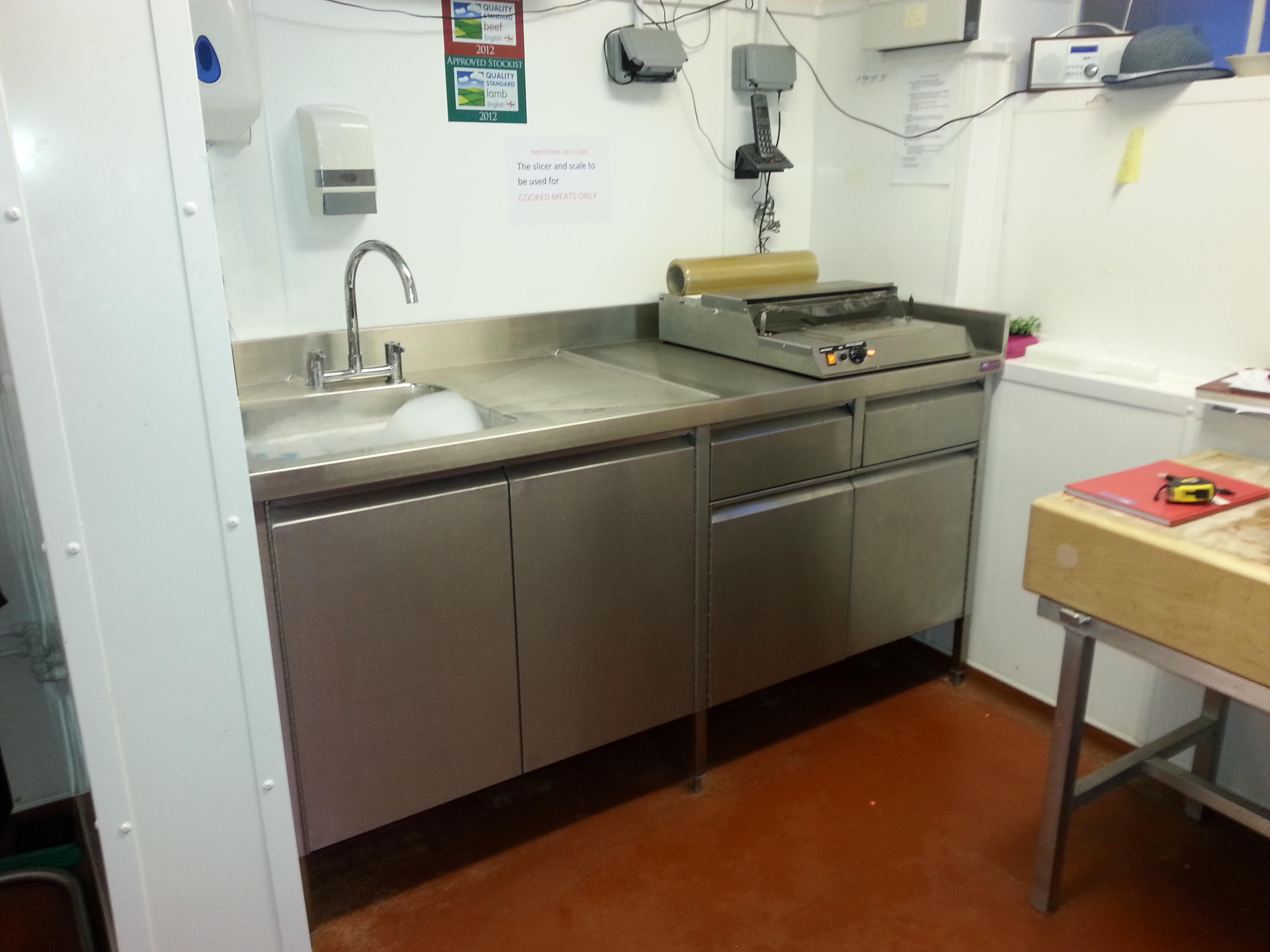 Food Service Sinks : Catering Sink by J&K Stainless Solutions Ltd