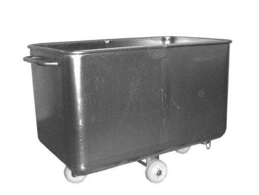 450 Lt mobile tank 1200 x 730 x 840. Comes with push handle