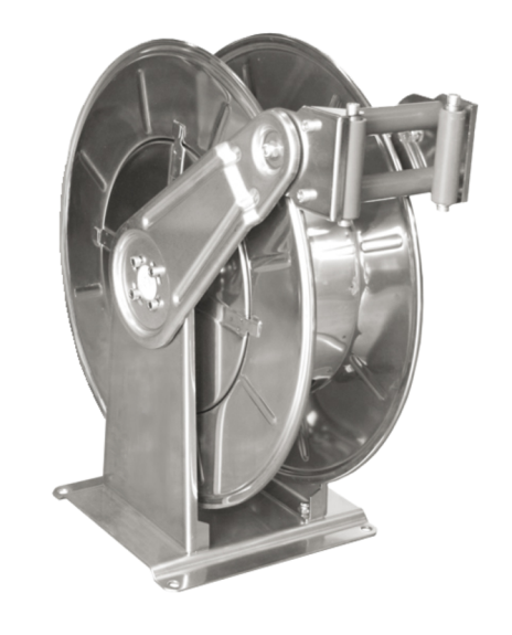 Rectractable wall mounted hose reels