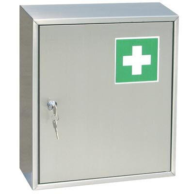 first aid cabinet stainless
