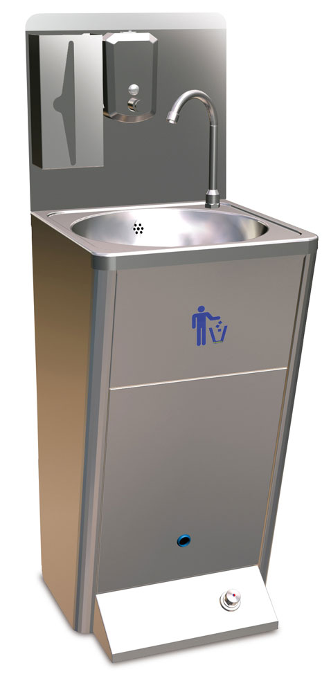 Hand Wash Basin Foot Operated By J Amp K Stainless Solutions Ltd