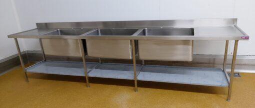 3 bowl sink