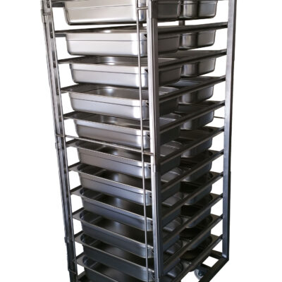 stainless steel gastronome trolleys
