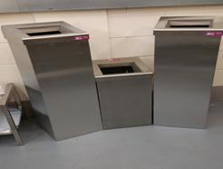 stainless steel waste bins