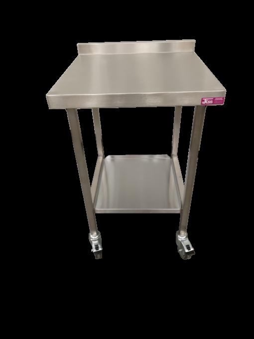 stainless steel solid undershelf mobile table